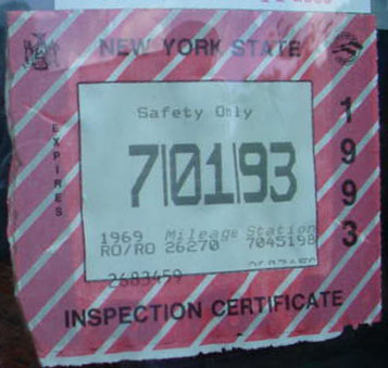 Vehicle Registration and Inspection Stickers Stock Image Source · New York  State Motor Vehicle Inspection Sticker