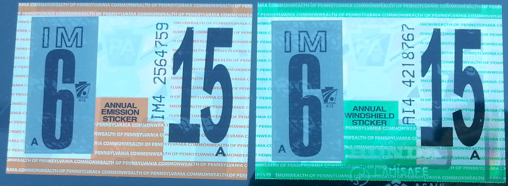 Car sticker inspection - 2014 2015 Cycle