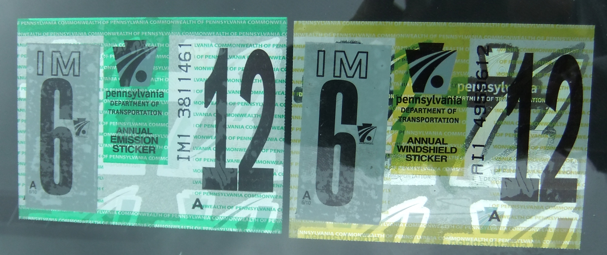 New car inspection sticker pa 11