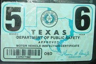 Top left: January 2006 expiration registration sticker